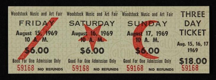 Woodstock preço ingressos